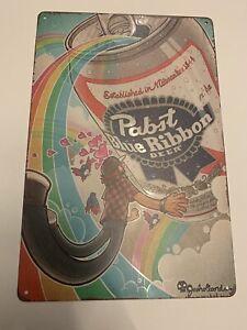 pabst blue ribbon Beer Tin sign vintage Poster  Garage Man cave Metal Garage
