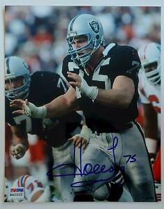 Howie Long autographed 8x10 photo OAKLAND Raiders PSA
