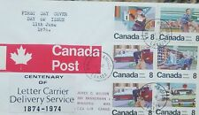 L) 1974 Canada, Centenary Of The Letter Carrier Delivery Service - Series Stamps