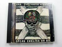 S.O.D. Stormtroopers of Death Speak English or Die CD, Used & Tested, Megaforce
