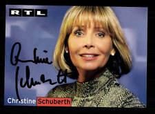Christine Schuberth RTL Autogrammkarte Original Signiert # BC 96691