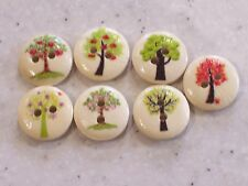 NEW 15 x Stunning Tree Design Wooden Buttons 15mm FREE P&P