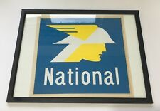 ORIGINAL VINTAGE NATIONAL FUEL PRINT / ADVERTISING POSTER  31.5cm x 29cm FRAMED