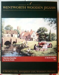 Wentworth Kevin Walsh Thirties Sunday Wooden Jigsaw Puzzle 250 Pce Vintage RARE