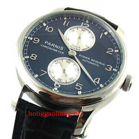 43mm Parnis Stahl Silber Fall Power Reserve Automatic ST2542 Mens Wristwatch 260