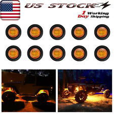 10x Mini Amber Led Rock Lights For Jeep Offroad Atv Boat Trail Underbody Light