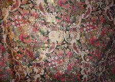 2 YARDS ATELIER FABRIC ~ SHINY FLOWERS & FRUIT ~ UPHOLSTERY / DRAPERY