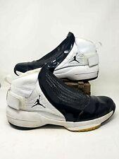 Nike Air Mens Jordans 19 XIX Basketball Shoes Black White Mid Top Sneakers 18 M
