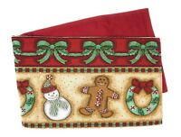 DaDa Bedding Gingerbread Christmas Table Runners, Festive Holiday Woven Tapestry