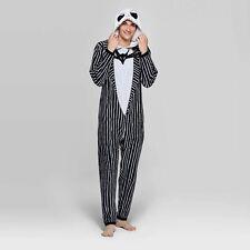 Nightmare Before Christmas Union Suit Size MEDIUM Mens Jack Skellington Hood NEW