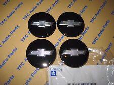 4 Chevy Camaro Volt Impala Malibu Gloss Black Bowtie Center Caps OEM Genuine GM