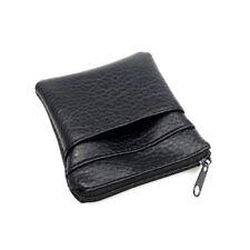 Men Mini Leather Coin Purse Wallet Change Bag Card Holder Zipper Clutch Bag QP