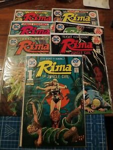 RIMA The Jungle Girl Complete Series #1,2,3,4,5,6,7 DC Comics 1975, Alcala, Nino