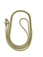 Vintage 12K Yellow Gold Filled Winard Serpentine Chain Necklace 18""
