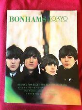 BONHAMS Tokio beautiful BEATLES FOR SALE auction catalogue 100 pg memorabilia