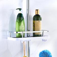 Bathroom Pole Shelf Shower Storage Caddy Rack Organiser Tray Shelf Accessory UK