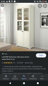LIATORP IKEA BOOKCASE GLASS DOORS 2 Pieces