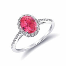 Natural Neon Tanzanian Spinel 1.09 carats set in 14K White Gold Ring