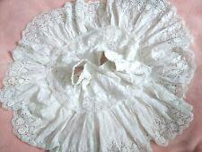 NWT Loveshackfancy 🎀 crochet eyelet lace cotton skirt tiered ruffled White M