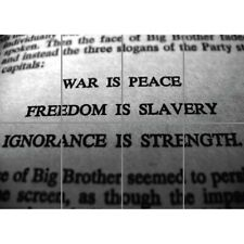 Big Brother 1984 George Orwell War Peace Slavery Giant Wall Poster Art