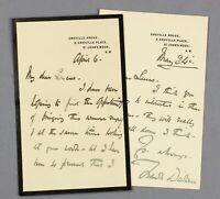 c1903-06 | two h/written signed letters artist Frank Dicksee John Seymour Lucas