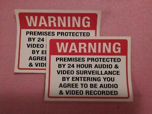 2pcs Security CCTV Camera Warning Decal Stickers