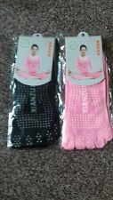 Five toe socks only 2 pink  pairs and 1 black pair available.