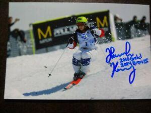 HANNAH KEARNEY Hand Signed Autograph 4X5 Photo - OLYMPIC GOLD MEDAL SKIER 2010