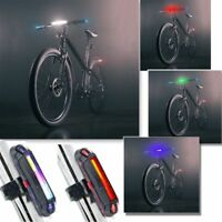 6 mode USB Rechargeable Bike Front Rear Tail Light Lamp COB LED Bicycle Safety