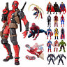 Marvel Avengers Superhero Spider-Man Thor Hulk Wolverine Action Figures Toy Doll