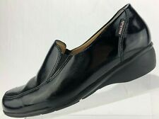 ee39ce5cb6d Mephisto Mobils Shoes Slip On Black Apron Toe Patent Leather Loafers Womens  8.5