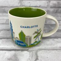Starbucks CHARLOTTE You Are Here Coffee Mug Collection City Collector 14oz 2016