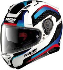 Motorrad Helm Nolan N87 Arkad N-COM Farbe: Weiß/Blau/Rot Gr: XL (61)