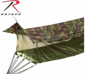 Camouflage Military Style Jungle Hammock /Mosquito Netting Screen & Rainfly 2365