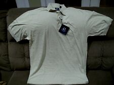 Pebble Beach polo shirt mens size M short sleeve gray white print New with Tags