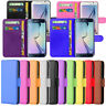 Magnetic Wallet Flip Book Card Holder Leather Pu Case Cover For Many SmartPhones
