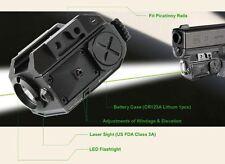Combo CREE Flashlight + Green Laser Sight Tactical Weaver Rail For Pistol/Glock
