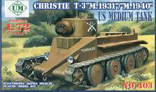"""UMmt #403, 1/72 scale, Christie T-3''M.1931""""/""""M.1940"""" << US Medium tank"""