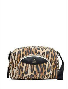 Mimco VISTA Satchel Crossbody bag Animal print font zip pocket RRP $149