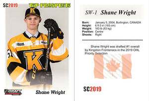 2019 SC Shane Wright Top Prospects RC Rookie 2022 TOP DRAFT HOT Kingston