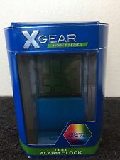 XGear Mobile Series  LCD Alarm Clock Colorful BackLight 41XG3041 BLUE