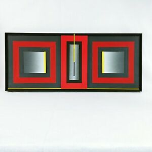 Contemporary Abstract Art 3d Wall Sculpture Construction Relief by Mike Collins