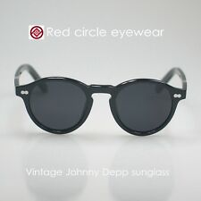 Vintage sunglasses Johnny Depp artists eyeglasses acetate black polarized lenses
