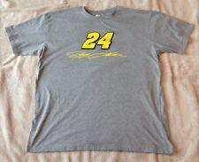JEFF GORDON #24 Nascar Racing Signature Size XL Grey T-SHIRT