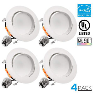 TORCHSTAR 4 inch LED Gimbal Recessed Downlight, Retrofit Ceiling light Fixture