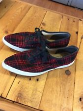 Vintage Montgomery Ward Skips Pointed Toe Tennis Shoes Sneakers Buffalo Plaid 6