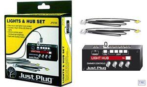 JP5700 Woodland Scenics Just Plug Lighting Sysytem Lights & Hub Set - Warm White
