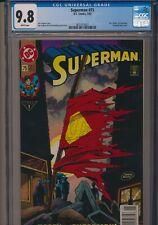 DC COMICS SUPERMAN #75 1993 CGC 9.8 WP NEWSSTAND EDITION DEATH OF SUPERMAN