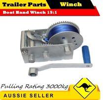 JSS 3000KG 3 SPEED Boat Hand Winch 15:1 CAR BOAT TRAILER 4WD HAND WINCH