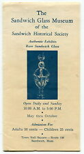 "Vintage Folder & Postcards: ""SANDWICH GLASS MUSEUM"" [Mass.]"